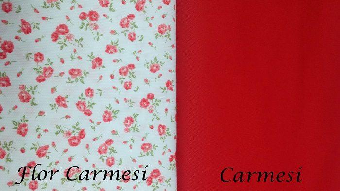 Piqué Flor Carmesí y Carmesí