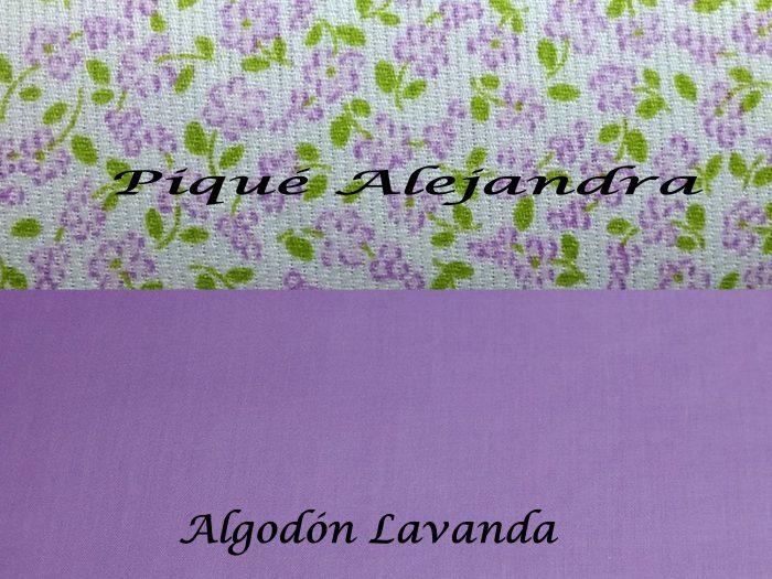 Piqué Alejandra y Algodón Lavanda