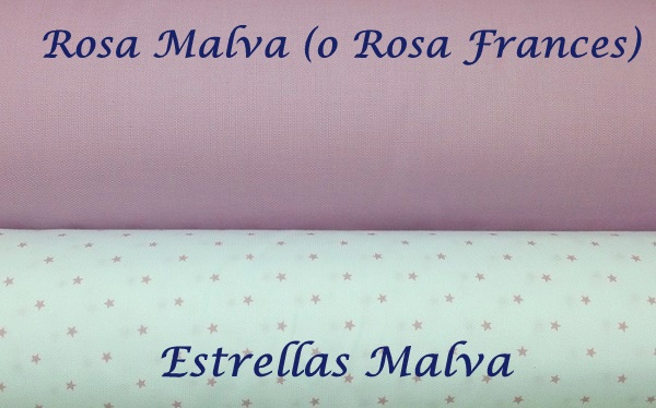 Piqué Rosa Malva y Estrellas Malva web