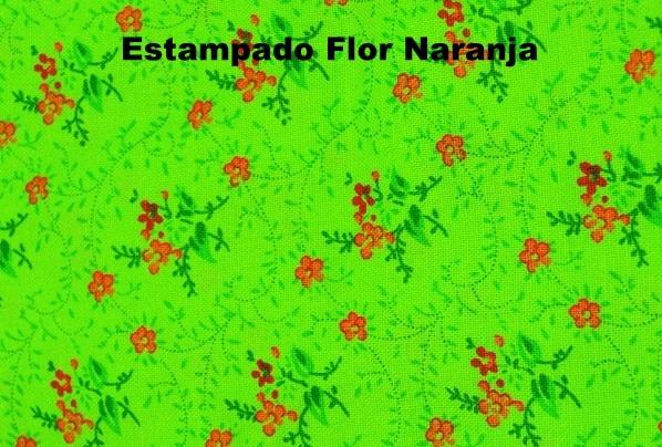 Verde Flor Naranja - Moda Niñas BeyBe -