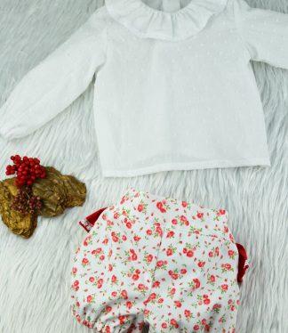 Paola II Bombacho y Blusa Angeli - Moda para Bebes Online BeyBe Alicante