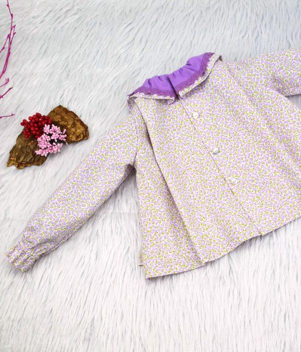 Blusa de piqué Alejandra - Tienda de Ropa de Marca BeyBe Moda Infantil