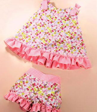 Conjunto Julia Vichy Beybe Moda Infantil Online