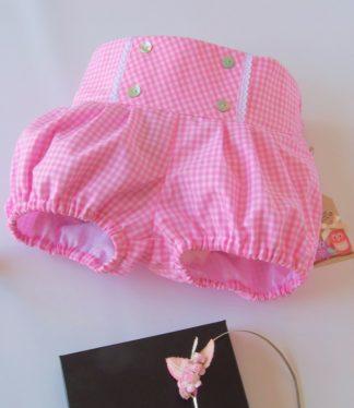 Pantalon Eva Vichy rosa BeyBe moda Infantil online