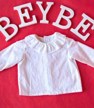blusas para bebes de plumeti, blusas blancas para bebes, blusas online para bebes