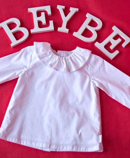 blusas blancas para bebes, blusas bonitas para bebes, blusas de popelin