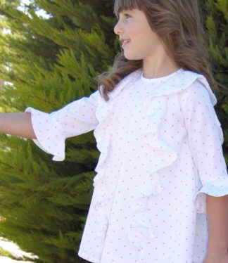 Vestidos para niñas pique 2019