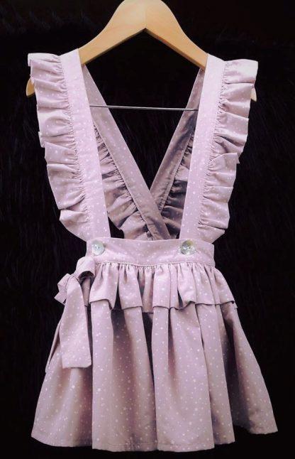 Vestido con tirantes niña